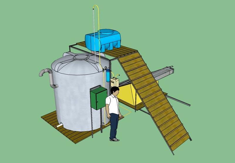 Биогазова установка домашним условия